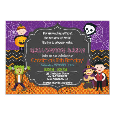Halloween Costume Birthday Party Invitation at Zazzle