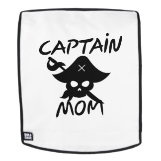 Halloween Costume Captain Mom Pirate Funny Backpack