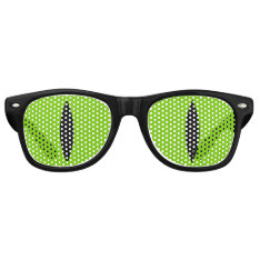 Halloween Costume Cat Witch Eyes Glasses. (green) Retro Sunglasses at Zazzle
