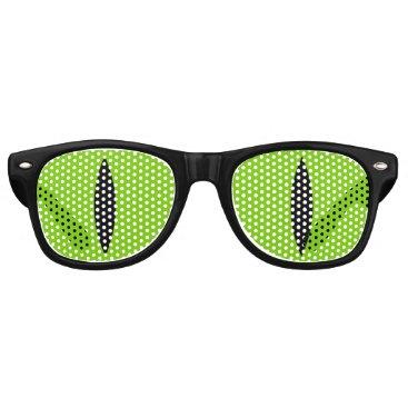 Halloween Themed Halloween Costume Cat Witch Eyes Glasses. (Green) Retro Sunglasses