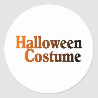 Halloween Costume Classic Round Sticker