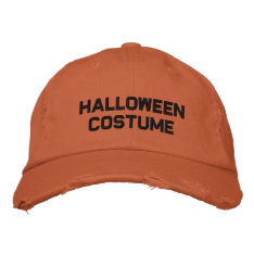 Halloween Costume Embroidered Hat at Zazzle