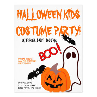 Halloween Costume Kids PartyAnnouncement Flyer