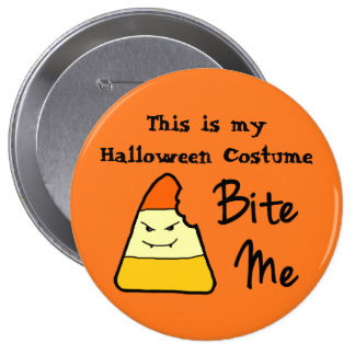 Halloween Costume Large Button