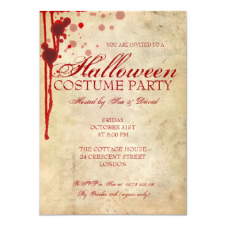 Halloween Costume Party 4.5x6.25 Paper Invitation Card