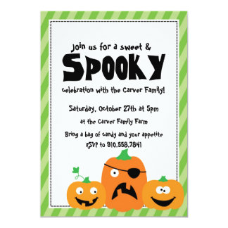 Halloween Costume Party Children Family invitation