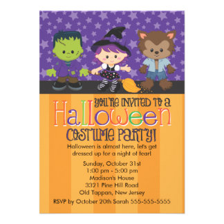 Halloween Costume Party Announcements