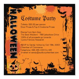 """Halloween Costume Party Invitation 5.25"""" Square Invitation Card"""