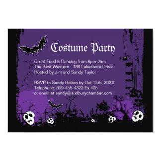 "Halloween Costume Party Invitation 5"" X 7"" Invitation Card"