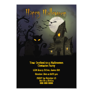 "Halloween Costume Party 5"" X 7"" Invitation Card"