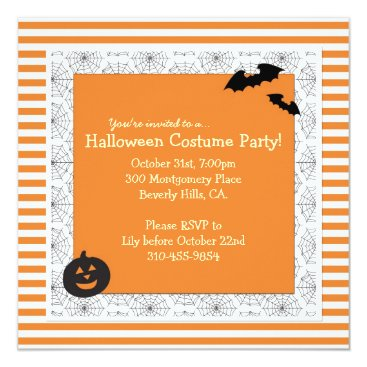 FreshPaperieHolidays Halloween Costume Party Invitation - Square