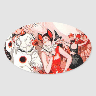 Halloween Costume Party Oval Sticker