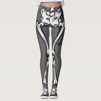 Halloween Costume Scary Skeloton Cust. Legging