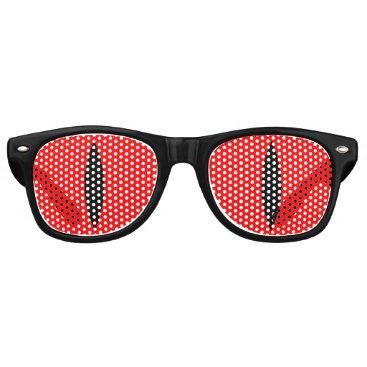 Halloween Themed Halloween Costume Vampire Eyes Glasses. (Red) Retro Sunglasses