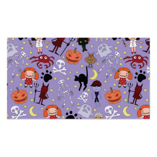 Halloween Costumes on Purple Double-Sided Standard Business Cards (Pack Of 100)