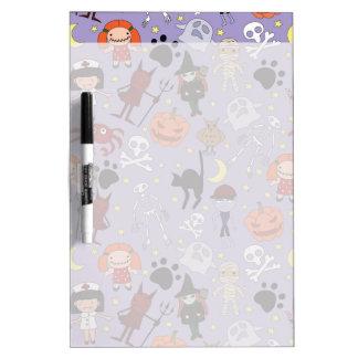 Halloween Costumes on Purple Dry Erase Whiteboards
