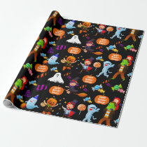 Halloween Costumes Personalized Wrapping Paper
