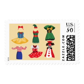 Halloween Costumes postage postal stamps