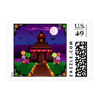 Halloween Cottage Stamp