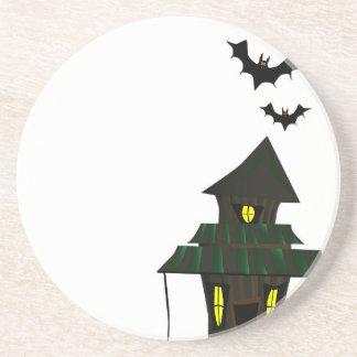 Halloween Cottoge Posavasos De Arenisca