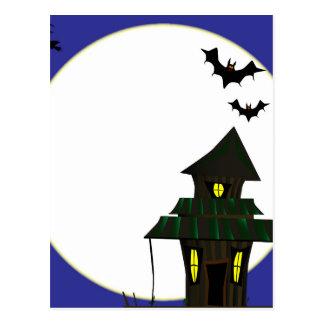 Halloween Cottoge Postcard