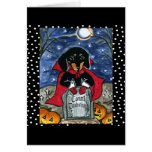 Halloween Count  Dachshund Greeting Card