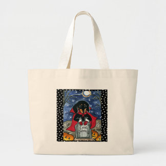 Halloween Count  Dachshund Large Tote Bag