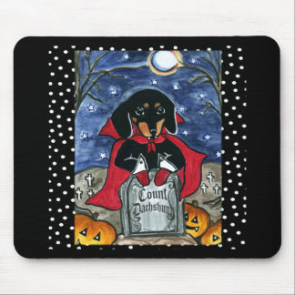 Halloween Count  Dachshund Mouse Mats