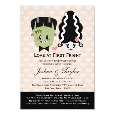 Halloween Themed Halloween Couples Wedding Shower Invitations
