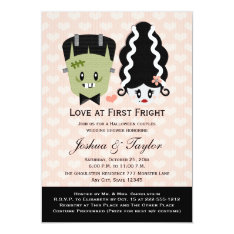 Halloween Couples Wedding Shower Invitations at Zazzle