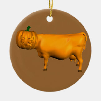 Halloween Cow Ceramic Ornament