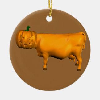 Halloween Cow Ceramic Ornament