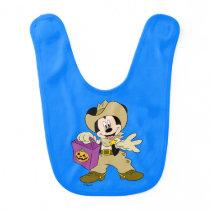 Halloween Cowboy Mickey Baby Bib