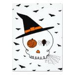 Halloween Craft Skull & Bats 5.5x7.5 Paper Invitation Card