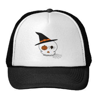 Halloween Craft Skull & Spider Web Trucker Hat