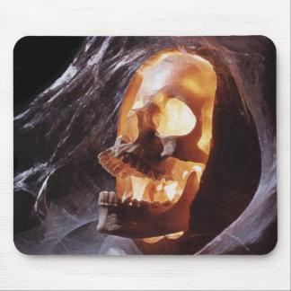Halloween - cráneo en calabaza tapete de ratones