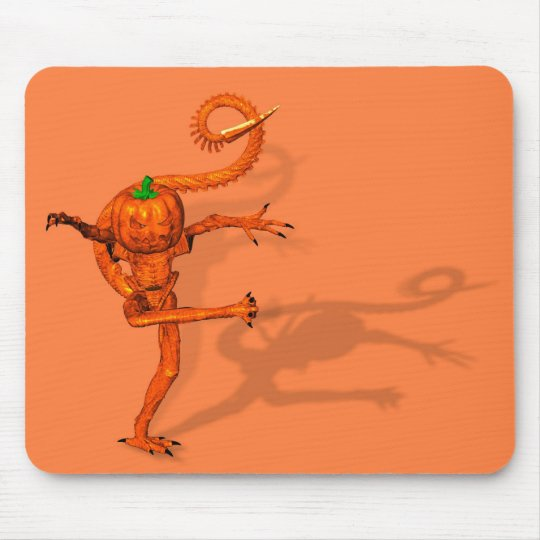 Halloween Creature From Galaxy Pumpkin Mouse Pad