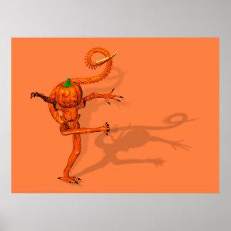 Halloween Creature From Galaxy Pumpkin Print