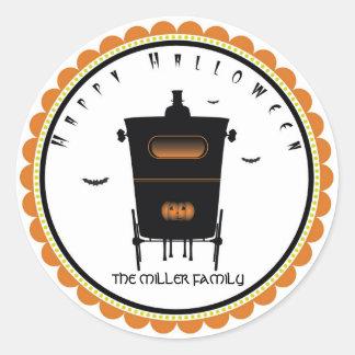Halloween Creepy Coach stickers