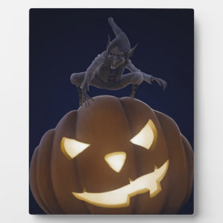 Halloween creepy night display plaque