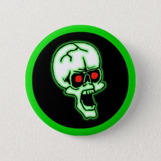 Halloween Creepy Skull Button