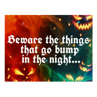 Halloween Creepy Things That Go Bump in the Night Postcard