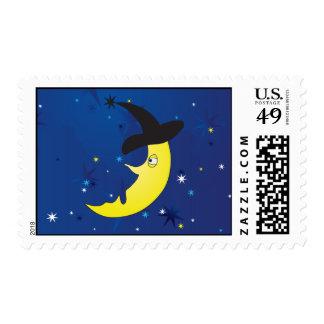 halloween crescent postage