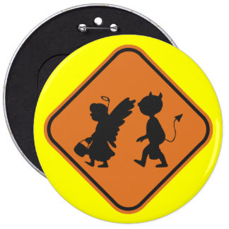 Halloween Crossing Pinback Button