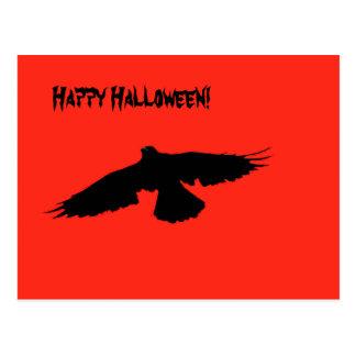 Halloween Crow Card Postcard