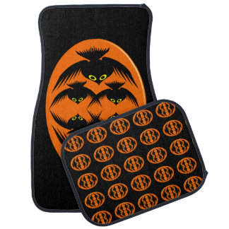 Halloween Crows Car Mat Set