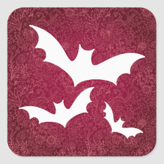 Halloween Crows Graphic Square Sticker