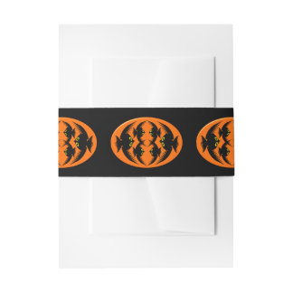 Halloween Crows Invitation Belly Band