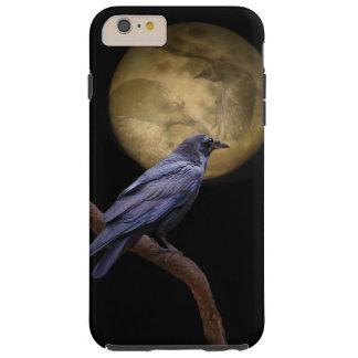 Halloween, cuervo gótico del estilo y luna funda resistente iPhone 6 plus