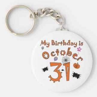 Halloween cumpleaños 31 de octubre llaveros